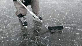 Hockey player on the ice stock images