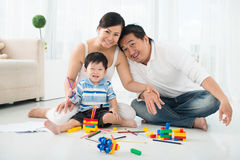 Playing with son royalty free stock images