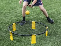Free Playing Spike Ball Royalty Free Stock Photo - 126804205