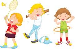 Playing sport royalty free illustration