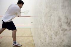 Playing squash Royalty Free Stock Photo