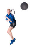 Playing squash Stock Photos