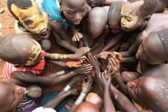 Playing Suri children Stock Photos