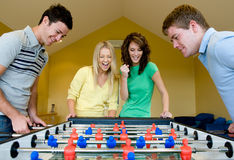 Playing Table Football Royalty Free Stock Photo