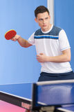 Playing table tennis. Stock Images