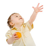 Playing With Tangerines Royalty Free Stock Images
