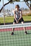 Playing tennis Stock Image