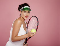 Playing tennis. Royalty Free Stock Photography