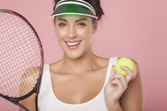 Playing tennis. Stock Photo