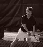 Playing tennis Royalty Free Stock Photo