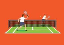 Playing Tennis Vector Illustration Stock Photos