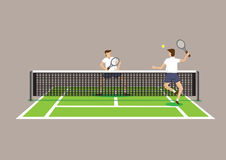 Playing Tennis Vector Illustration Royalty Free Stock Photos