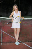 Playing Tennis Royalty Free Stock Images