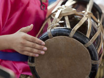 Playing the Thai drum Stock Image