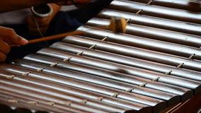 Playing Thai xylophone. HD stock footage