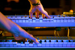 Playing The Keyboard Royalty Free Stock Photo
