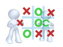 Playing Tic tac toe Royalty Free Stock Image