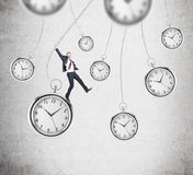 Playing with time Stock Images