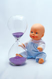 Playing with time Hourglass royalty free stock photo
