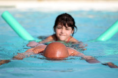 Playing to swimming pool Stock Photography