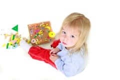 Playing toddler girl Royalty Free Stock Images