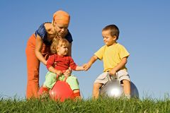 Free Playing Together Outdoors Royalty Free Stock Photography - 3205367
