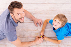 Playing together. Royalty Free Stock Photo