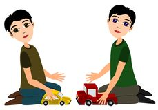 Playing toy car Royalty Free Stock Photography