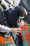 Playing the traditional Irish bagpipe Royalty Free Stock Photos
