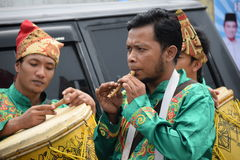 Playing Traditional Minangkabau Flute Royalty Free Stock Photos