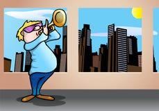 Playing trumpet Stock Image