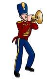 Playing trumpet Royalty Free Stock Photos