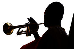 Playing the trumpet Stock Photography
