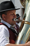 Playing the tuba Royalty Free Stock Images