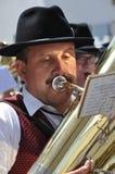 Playing the tuba Royalty Free Stock Image