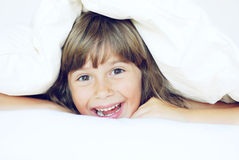 Playing under the covers Royalty Free Stock Images