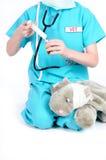 Playing veterinary Stock Image