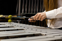 Playing the vibraphone closeup Stock Images