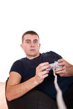 Playing video game Royalty Free Stock Image
