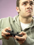 Playing video game Stock Photos