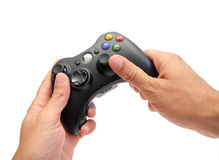 Playing video games Royalty Free Stock Photo