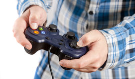 Playing video games. Royalty Free Stock Images
