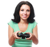 Playing videogames Stock Images