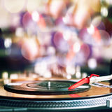 Playing vinyl Stock Images