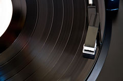 Playing a vinyl record Stock Images
