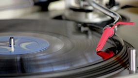 Playing a vinyl record player. Music stock video