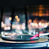Playing vinyl Royalty Free Stock Photo