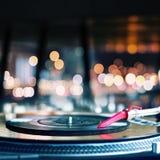 Playing vinyl Royalty Free Stock Photo