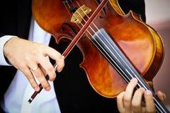 Playing viola Stock Photo