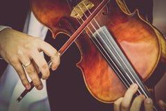 Playing viola Royalty Free Stock Image